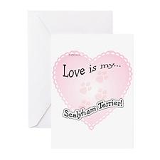 Love is my Sealyham Terrier Greeting Cards (Packag