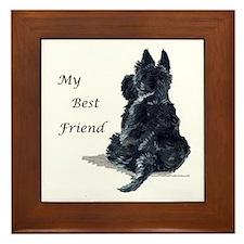 Scottish Terrier AKC Framed Tile