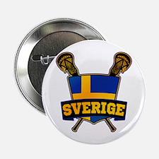 "Sweden Sverige Lacrosse Logo 2.25"" Button"