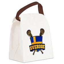 Sweden Sverige Lacrosse Logo Canvas Lunch Bag