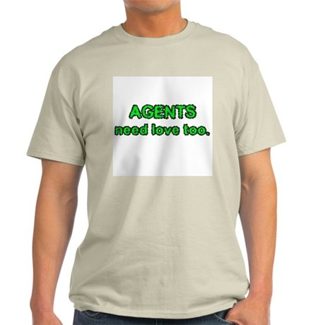 Agents Need Love Too Ash Grey T-Shirt