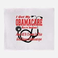 Obamacare Covers Only God Damn Stethoscope Throw B