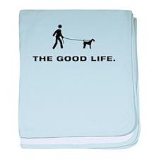 Airdale Terrier baby blanket