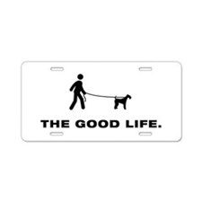 Airdale Terrier Aluminum License Plate