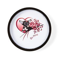 Valentine Chihuahua Wall Clock