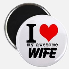 """I heart my Awesome Wife 2.25"""" Magnet (100 pack)"""