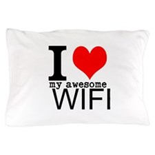 I heart my Awesome Wife Pillow Case