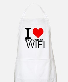 I heart my Awesome Wife Apron