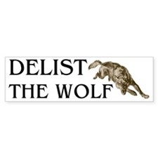 DELIST THE WOLF Bumper Bumper Sticker