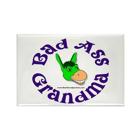 Bad Ass Grandma Rectangle Magnet (100 pack)