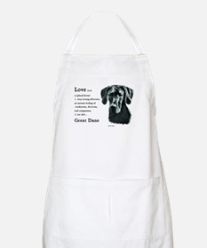 Black Great Dane Apron