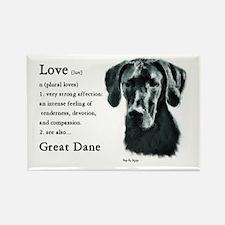 Black Great Dane Rectangle Magnet (10 pack)