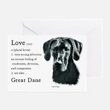Black Great Dane Greeting Cards (Pk of 10)
