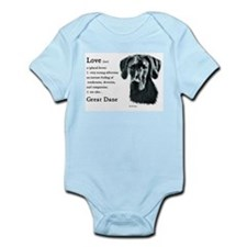 Black Great Dane Infant Bodysuit