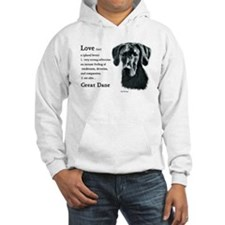 Black Great Dane Hoodie