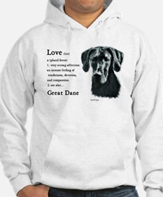 Black Great Dane Hoodie Sweatshirt