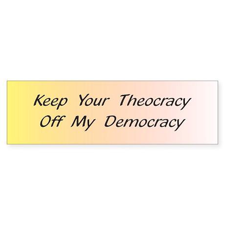 Off My Democracy Sticker (Bumper)