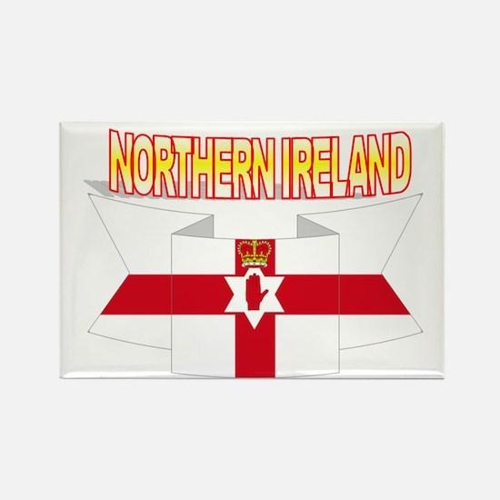 Ulster banner ribbon flag Rectangle Magnet