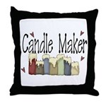 Candle Maker Throw Pillow
