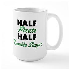 Half Pirate Half Zombie Slayer Mugs