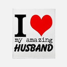 I heart my Amazing Husband Throw Blanket