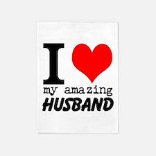 I heart my Amazing Husband 5'x7'Area Rug