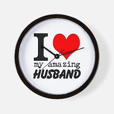 I heart my Amazing Husband Wall Clock