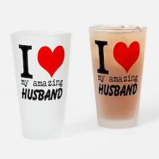 I heart my Amazing Husband Drinking Glass