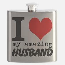 I heart my Amazing Husband Flask