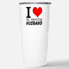 I heart my Amazing Husband Travel Mug