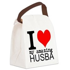I heart my Amazing Husband Canvas Lunch Bag