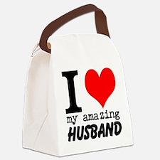 I heart my Amazing Husband Canvas Lunch Bag