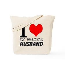 I heart my Amazing Husband Tote Bag