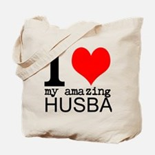 I heart my Amazing Husband Tote Bag