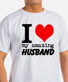 I heart my Amazing Husband T-Shirt
