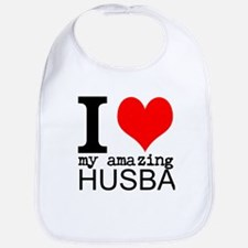 I heart my Amazing Husband Bib