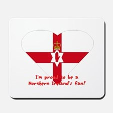 Red hand of Ulster pride flag Mousepad