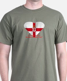 Red hand of Ulster pride flag T-Shirt