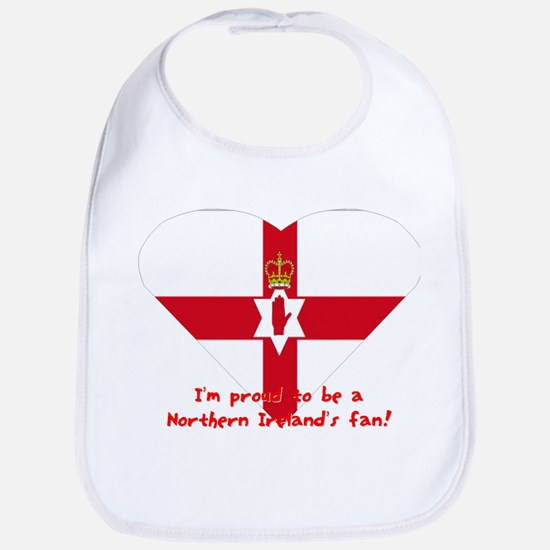 Red hand of Ulster pride flag Bib