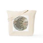Cosmic Sun and Moon Tote Bag