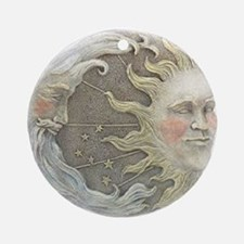Cosmic Sun and Moon Ornament (Round)