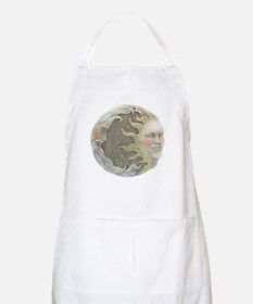 Cosmic Sun and Moon BBQ Apron