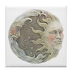 Cosmic Sun and Moon Tile Coaster