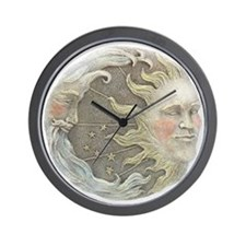Cosmic Sun and Moon Wall Clock