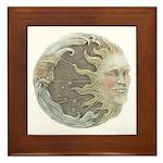 Cosmic Sun and Moon Framed Tile