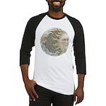 Cosmic Sun and Moon Baseball Jersey