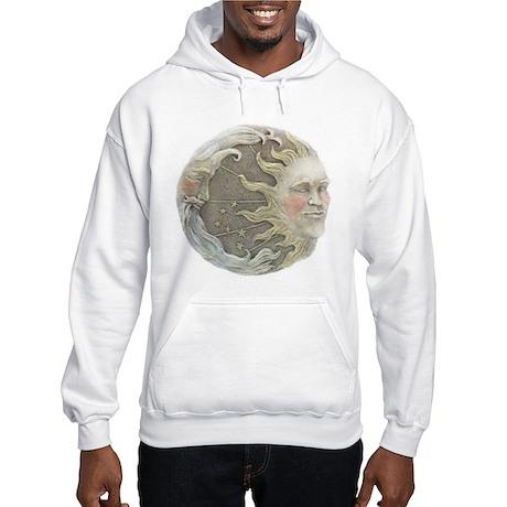 Cosmic Sun and Moon Hooded Sweatshirt