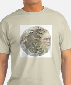 Cosmic Sun and Moon Ash Grey T-Shirt