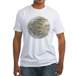 Cosmic Sun and Moon Fitted T-Shirt