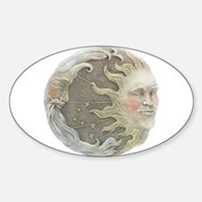 Cosmic Sun and Moon Oval Decal